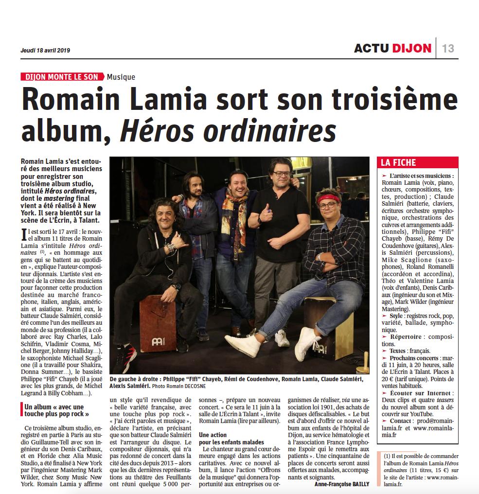 Romain LAMIA s'est entouré des meilleurs musiciens