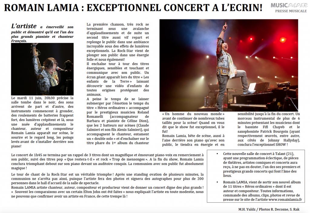 Exceptionnel Concert
