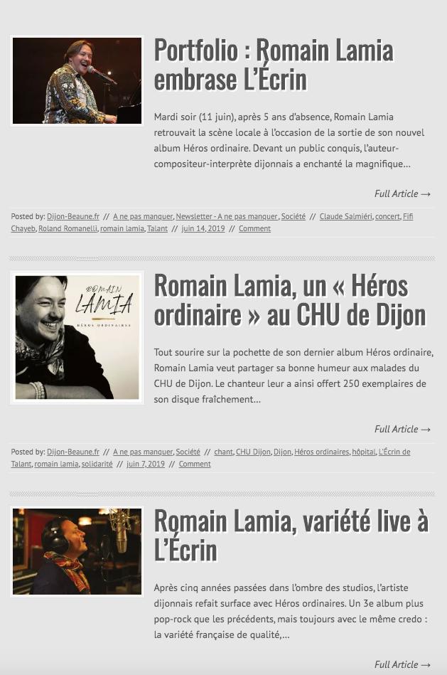 Quelques parutions sur DijonBeaune.fr