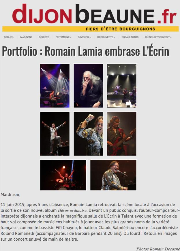 Romain Lamia embrase l'Ecrin